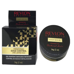 Revlon Realistic Black Seed Oil Designed For Natural Hair Strengthening Edge Control 2 Oz