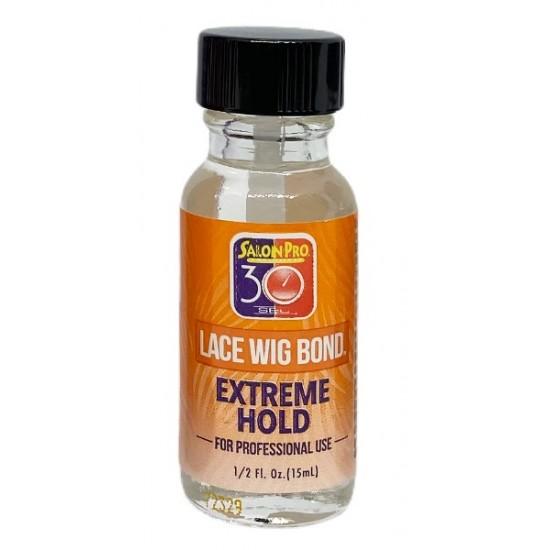 Salon Pro 30 Sec Lace Wig Bond Glue Extreme Hold 0.5 Oz