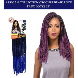 Sensationnel Synthetic Hair Crochet Braid Loop Faux Locks 12""