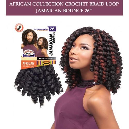 Jamaica Hair Color: Sensationnel Synthetic Hair Crochet Braid Loop Jamaican