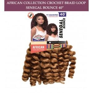 "Sensationnel Synthetic Hair Crochet Braid Loop Senegal Bounce 40"""