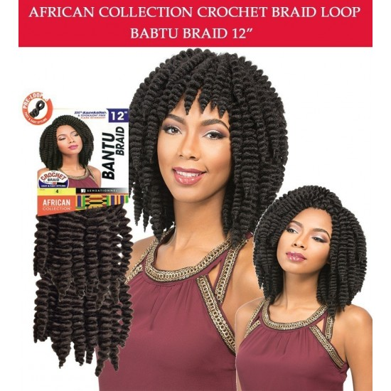 Sensationnel Synthetic Crochet Braid African Collcetion Bantu Braid Loop 12