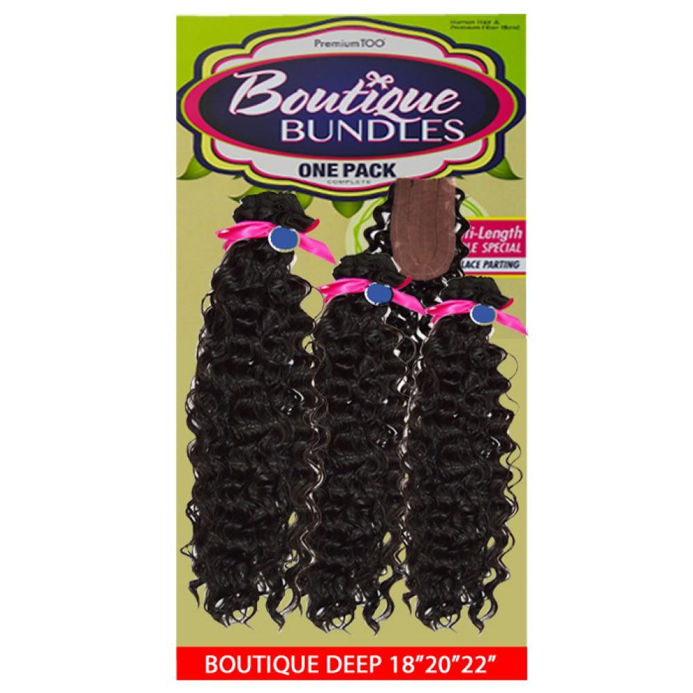 Sensationnel Boutique Bundle Multi Pack 100% Human Hair & Premium Blend Hair Weave Deep Wave