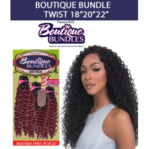 Sensationnel Boutique Bundle Multi Pack 100% Human Hair & Premium Blend Hair Weave Twist