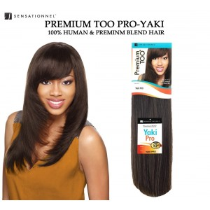 Sensationnel Premium Too Yaki Pro Straight 100% Human Hair & Premium Blend Hair Weave