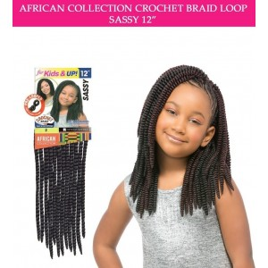 Sensationnel Synthetic Hair Crochet Braid Loop Kids Sassy 12""