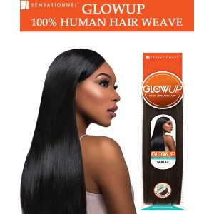 Sensationnel Glowup 100% Human Hair Weave Yaki Straight