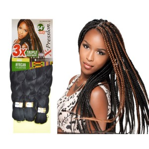 Sensationnel African Collection Synthetic 100% Kanekalon X-pression Braid 3x Triple Pack 84""
