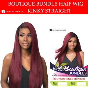 Sensationnel Synthetic Instant Weave Half Wig Boutique Kinky Straight