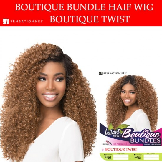 Sensationnel Synthetic Instant Weave Half Wig Boutique Twist