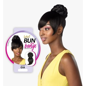 Ebo Synthetic Instant Bun With Bangs Gia