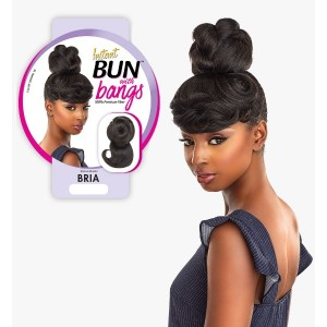 Ebo Synthetic Instant Bun With Bangs Bria