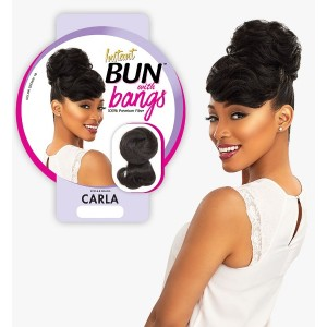 Ebo Synthetic Instant Bun With Bangs Carla