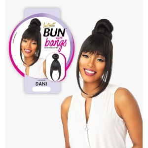 Ebo Synthetic Instant Bun With Bangs Dani