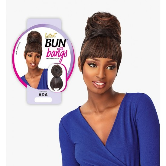 Ebo Synthetic Instant Bun With Bangs Ada