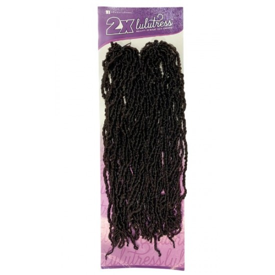 Sensationnel Lulutress Synthetic Hair Crochet Braid 2x Micro Locs 18