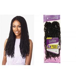 "Sensationnel Lulutress Synthetic Hair Crochet Braid 2x Micro Locs 18"""