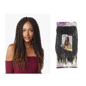 "Sensationnel Lulutress Synthetic Hair Crochet Braid Loop 3x 3d Passion Twist 18"""