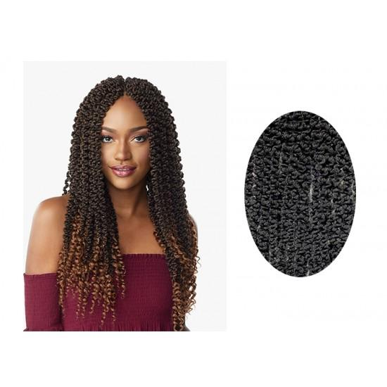 Sensationnel Lulutress Synthetic Hair Crochet Braid Loop 3x 3d Passion Twist 18