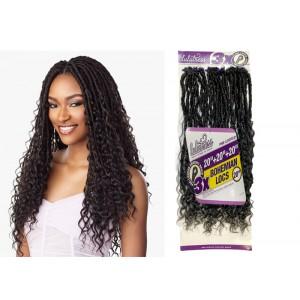 "Sensationnel Lulutress Synthetic Hair Crochet Braid Loop 3x Bohemian Locs 20"""