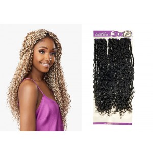 "Sensationnel Lulutress Synthetic Hair Crochet Braid Loop 3x Bohemian Twist 20"""