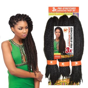 Sensationnel African Collection Synthetic Hair Crochet Braid 3x Jamaican Twist Pre Stretched 36""