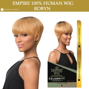 Sensationnel Empire Wig 100% Human Hair Full Wig Robyn