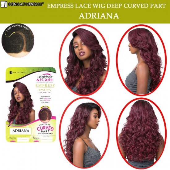 Sensationnel Empress Synthetic Lace Front Wig Curved Part Adriana