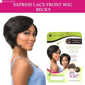Sensationnel Empress Synthetic Lace Front Wig Curved Part Becky