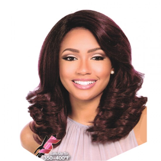 Sensationnel Empress Synthetic Lace Front Wig 2 Way L Shape Part Clary