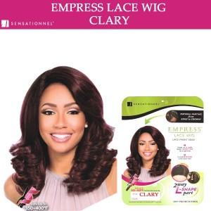 Sensationnel Empress Synthetic Lace Front Wig 2 Way L Shape Part Clary