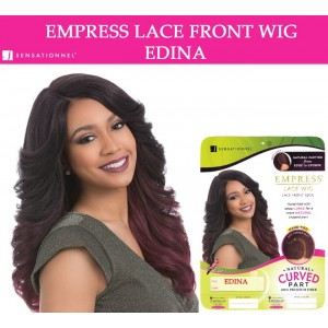 Sensationnel Empress Synthetic Lace Front Wig Curved Part Edina