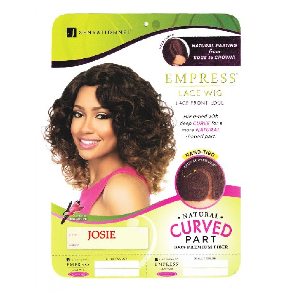 Sensationnel Empress Synthetic Lace Front Wig Curved Part Josie