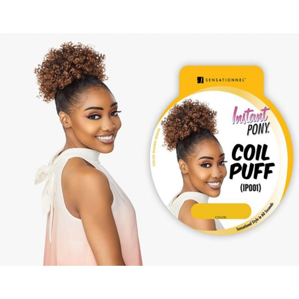 Sensationnel Instant Pony Synthetic Heat Resistant Draw String Ponytail Coil Puff Ip001