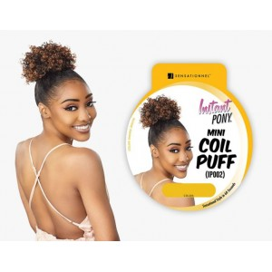Sensationnel Instant Pony Synthetic Heat Resistant Draw String Ponytail Mini Coil Puff Ip002