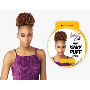 Sensationnel Instant Pony Synthetic Heat Resistant Draw String Ponytail Mini Kinky Puff Ip004