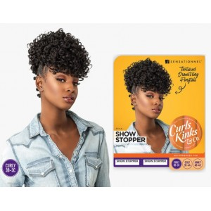 Sensationnel Instant Pony Synthetic Heat Resistant Textured Draw String Ponytail Curls Kinks Show Stopper