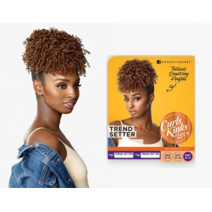 Sensationnel Instant Pony Synthetic Heat Resistant Textured Draw String Ponytail Curls Kinks Trend Setter