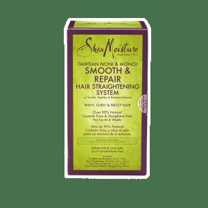 Shea Moisture Tahitian Noni & Monoismooth & Repair Hair Straightening System