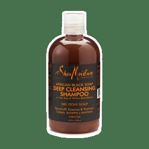 shea moisture african black soapdeep cleansing shampoo