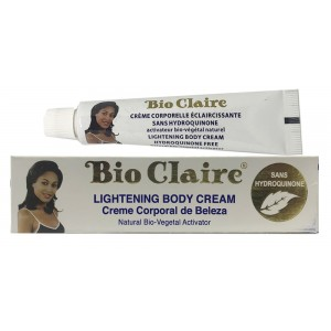 Bio Claire Lightenning Body Cream Without Hydroquinone Cream Tub 1.3 Oz