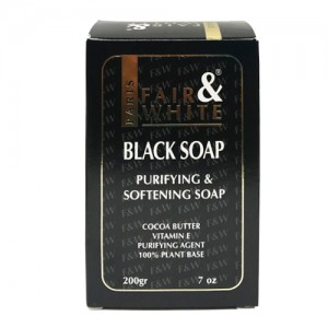Fair And White Skin Black Soap Purifying And Softening 200 G