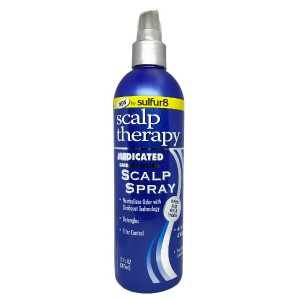 Sulfur8 Scalp Therapy Medicated Dandruff Control Scalp Spray 12 Oz
