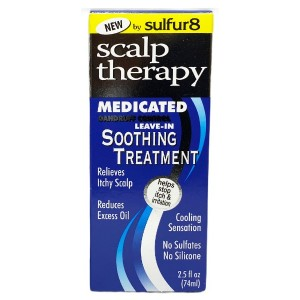 Sulfur8 Scalp Therapy Medicated Dandruff Control Leave In Soothing Treatment 2.5 Oz