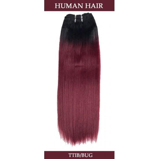 Two Tone Yaki Straight Human Hair Weave