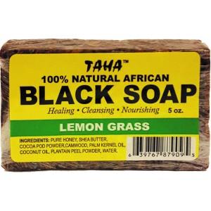 Taha African Black Soap 100% Natural Lemon Grass 5 Oz