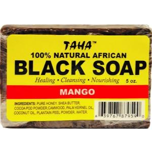 Taha African Black Soap 100% Natural Mango 5 Oz
