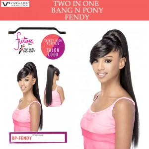 Vivica A Fox Synthetic Heat Resistant Bang N Pony Draw String Fendy