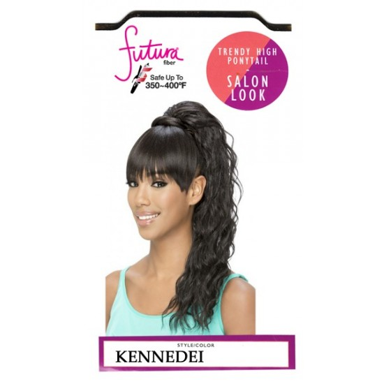Vivica A Fox Synthetic Heat Resistant Bang N Pony Draw String Kennedei