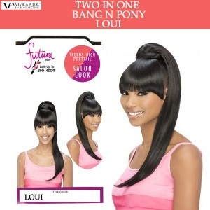 Vivica A Fox Synthetic Heat Resistant Bang N Pony Draw String Loui